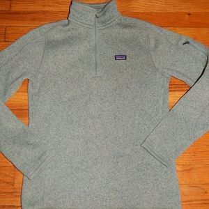 PATAGONIA sage green fleece 1/4 zipper pullover